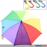 """Kinder-Regenschirm """"Regenbogen"""" 4-fach sort."""