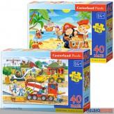 "Maxi-Puzzle Kinder ""59 x 40 cm"" - 40 Teile - 3-sort."