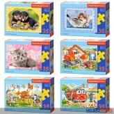 """Kinder-Puzzles """"23 x 16 cm"""" - 35 Teile - 6-sort."""