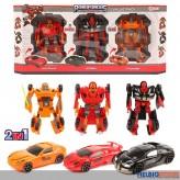 """3er Set Transformer-Autos """"Roboforces"""""""