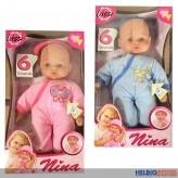 "Baby-Puppe ""Nina im Schlafanzug"" 6 Sounds - 2-sort."