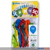 "Zahlenluftballon-Set m. Aufdruck ""60"""