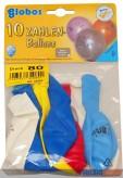 """10 gr. Zahlenluftballons m. Aufdruck """"80"""""""