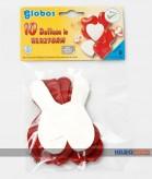 """10 Luftballons """"Herz - Herzform"""" Ø 25 cm"""