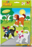 "Bügelperlen-Set ""Hund & Katze"" - midi"