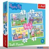 """Kinder-Puzzle 4-in-1 """"Peppa Pig 12 + 15 + 20 + 24 Teile"""""""