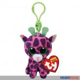 """Boo Clip/Anhänger - Giraffe """"Gilbert"""" pink/lila - 8,5 cm"""
