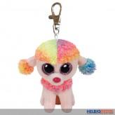 """Boo Clip/Anhänger - Pudel """"Rainbow"""" multicolor - 8,5 cm"""