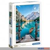 "Puzzle ""Bergsee Idylle - Braies Lake"" 500 Teile"