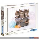"Puzzle ""Kätzchen & Schaum / Kitten & Soap"" - 500 Teile"