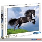 "Puzzle ""Pferd - Fresian black horse"" - 500 Teile"