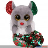 "Ty Flippables - Maus ""Chipper"" XMAS - Clip 8,5 cm"