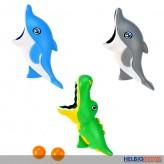 """Tiere-Fangball-Spiel """"Krokodil & Delfin"""" - 3-sort."""