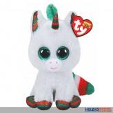 "Beanie Boo - Einhorn/Unicorn ""Snowfall XMAS"" - 15 cm"