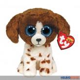 """Glubschi's/Beanie Boo's - Hund """"Muddles"""" braun-weiss - 15 cm"""