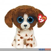 """Glubschi's/Beanie Boo's - Hund """"Muddles"""" weiss-braun - 24 cm"""