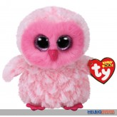"Glubschi's/Beanie Boo's - Eule ""Twiggy"" pink/weiß- 15 cm"