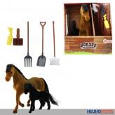 "Pferde-Spielset ""Stute mit Fohlen - Horses"" 15 cm"