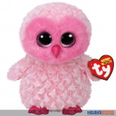 "Glubschi's/Beanie Boo's - Eule ""Twiggy"" pink/weiss - 24 cm"
