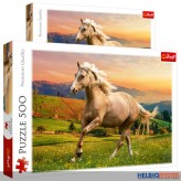 """Puzzle """"Pferd - Afternoon gallop in the sun"""" - 500 Teile"""