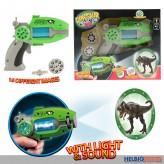 """Einhand-Projektor """"Dinosaurier"""" m. Licht & Soundfunktion"""