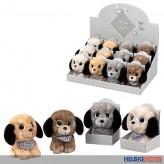 """Plüschtier """"Hund"""" in Geschenkbox 12 cm - 4-sort."""