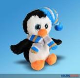"""Plüsch-Pinguin """"Winter"""" sitzend - 11 cm"""