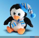 """Plüsch-Pinguin """"Winter"""" sitzend - 13 cm"""
