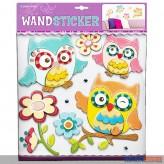 """3D Wandsticker """"Eulen/Owls"""""""