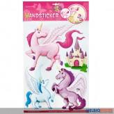 "3D Wandsticker ""Einhorn/Unicorn"""