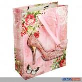 "3-D Geschenktüte ""High Heels & Butterfly"" sort. - groß"