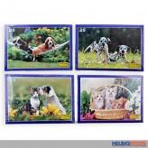 """Kinder-Puzzle """"Hunde & Katzen"""" 25 Teile - 4-sort."""
