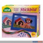 "Stickbild ""Design Studio: Hund & Katze"" sort."