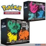 "Pokémon - Top-Trainer-Box SWSH7 ""Drachenwandel"" (DE) sort."