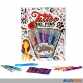 "Tattoo Gel-Stifte 5er Set ""Tattoo Gel Pens"" inkl. Vorlagen"
