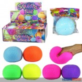 "Quetsch-Noppen-Ball ""Squishy-Ball 10 cm"" 6-sort. - Display"