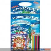 """Kreativ-Set """"Super-Weihnachtsset"""" inkl. 4 Bücher & Stifte"""