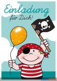 """Kindergeburtstags-Einladungskarten """"Jungs Pirat"""""""
