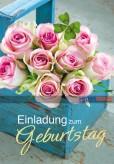 """Geburtstags-Einladungskarten """"Einladung-Rosen"""""""