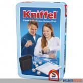 """Gesellschaftsspiel """"Kniffel"""" m. Würfelbecher - in Metallbox"""