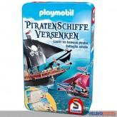 """Gesellschaftsspiel """"Piratenschiffe versenken"""" in Metallbox"""