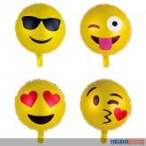 "Folienballon ""Smiley"" 45 cm - 4-sort."