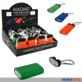"""LED-Taschenlampe """"Magnet""""  inkl. Batterien - sort."""