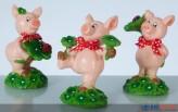 Glücksschweinchen mit Schleife