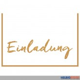 """5er Set neutrale Einladungskarten """"Einladung"""""""