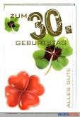 """Glückwunschkarte """"30. Geburtstag"""" - 10er Sortiment"""