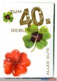 """Glückwunschkarte """"40. Geburtstag"""" - 10er Sortiment"""