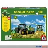"Kinder-Puzzle ""John Deere Traktor 7310R"" m. Modell 100 Teile"