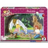 """Kinder-Puzzle """"Bibi & Tina-Mit Tieren am Steinbruch"""" 150-tlg"""