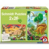 "Puzzle ""Dinosaurier-Freunde"" - 2 x 26 Teile"